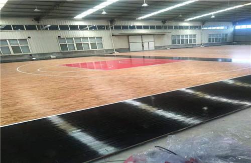 室内篮球场木地板与普通木地板之间存在很大差别