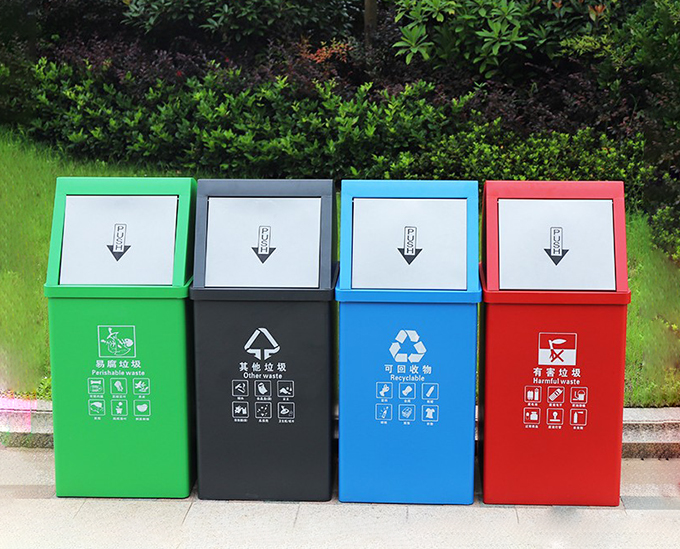 5方挂桶垃圾车图片_分类垃圾桶_餐厅垃圾如何分类