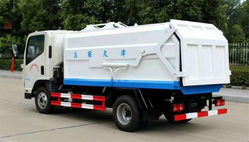 自卸式垃圾车和对接式垃圾车的区别 侧装压缩式垃圾车报价