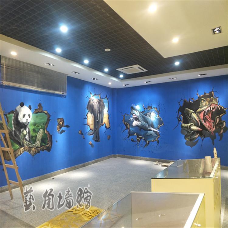 長豐幼兒園墻繪,藝角墻繪,六安手繪壁畫費用,淮南彩繪壁畫公司