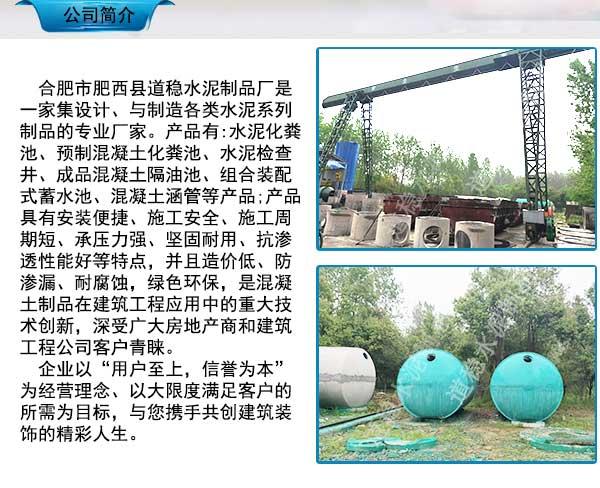 扬州整体式化粪池厂家